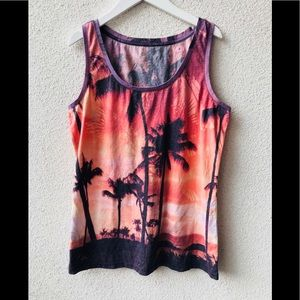 👙 Lord&taylor California sunset tank shirt NWT M